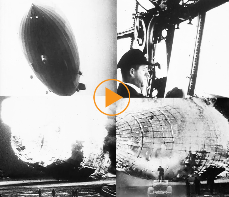They Made News, Part 1 - James Seely, filmed the Hindenburg Disaster / Buff Film & Video Library / Bridgeman Footage
