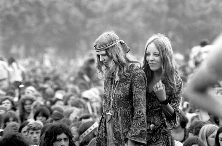 Hyde Park Pop Festival, July 1970 (b/w photo), . / London, UK / © Mirrorpix / Bridgeman Images