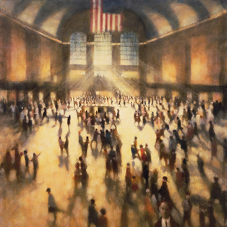 Chance Encounter II, Grand Central, 2006 (oil on canvas) by Bill Jacklin