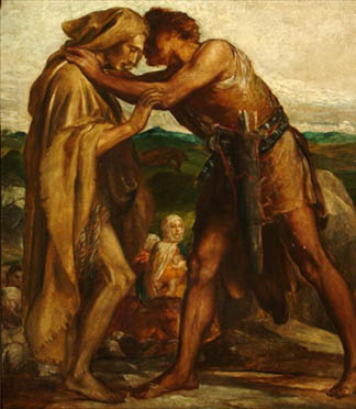 Jacob and Esau, 1878 (oil on canvas), George Frederick Watts (1817-1904) / © Trustees of the Watts Gallery, Compton, Surrey, UK