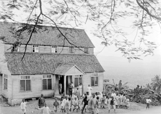 A country school, Jamaica, 1908-09 (b/w photo) by Harry Hamilton Johnston / Royal Geographical Society, London