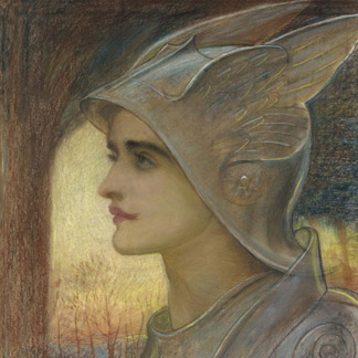 St. Joan of Arc (pencil & pastel on buff paper) by Sir William Blake Richmond / Christie's Images