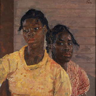 (detail) Two Jamaican Girls, 1937 (oil on canvas) by Augustus Edwin John / Walker Art Gallery, National Museums Liverpool
