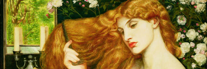 'Lady Lilith', (detail)1868 by Dante C.G. Rossetti (1828-82) / Delaware Art Museum, Wilmington, USA / Samuel & Mary R. Bancroft Memorial