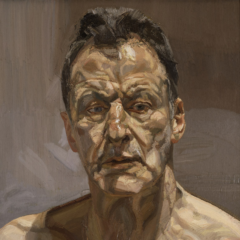 Reflection (Self Portrait), 1985 (oil on canvas), Lucian Freud  (1922-2011) / Private Collection © Lucian Freud Archive