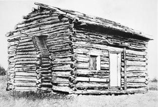 The Log Cabin in which Abraham Lincoln was born in / Peter Newark American Pictures