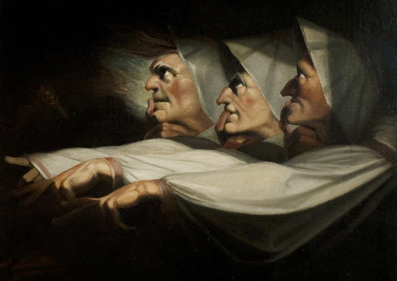 'Macbeth', Act I, Scene 3, the Weird Sisters, c.1783 (oil on canvas) by Henry Fuseli (1741-1825)