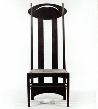 High backed chair, c.1897by Charles Rennie Mackintosh<br> (1868-1928) / Private Collection