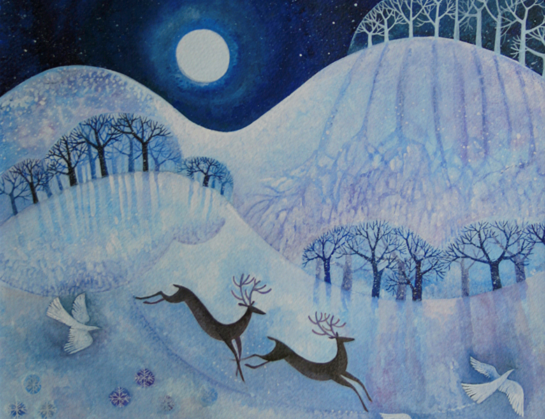 Snowy Peace, 2011, Lisa Graa Jensen (Contemporary Artist) / Private Collection / Bridgeman Images