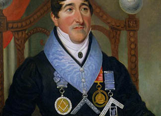 Portrait of John James Howell Coe, 1820s English School © Library and Museum of Freemasonry, London, UK
