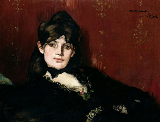 Berthe Morisot Reclining, 1873 (oil on canvas) by Edouard Manet/ Musee Marmottan Monet, Paris