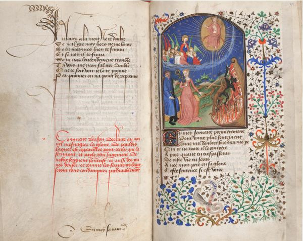 The Way of Poverty or of Wealth, c.1425-50 (tempera on vellum), Master Fastolf (fl.c.1420-60) / Free Library of Philadelphia / Rare Book Department