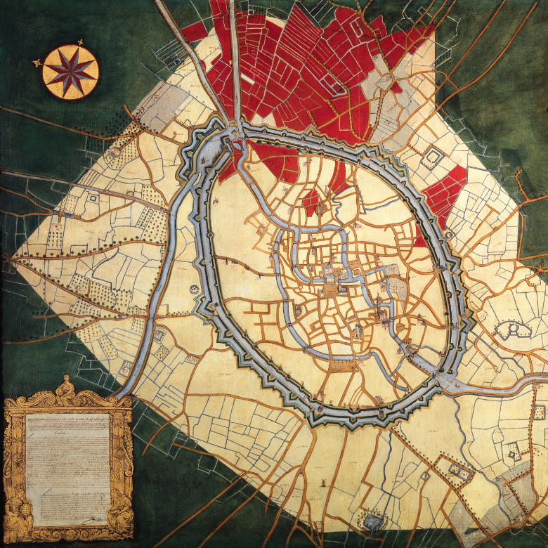 Map of Bruges and the Waterways / Joannes Lobberecht / Groeningemuseum, Bruges, Belgium / © Lukas - Art in Flanders / Bridgeman Images