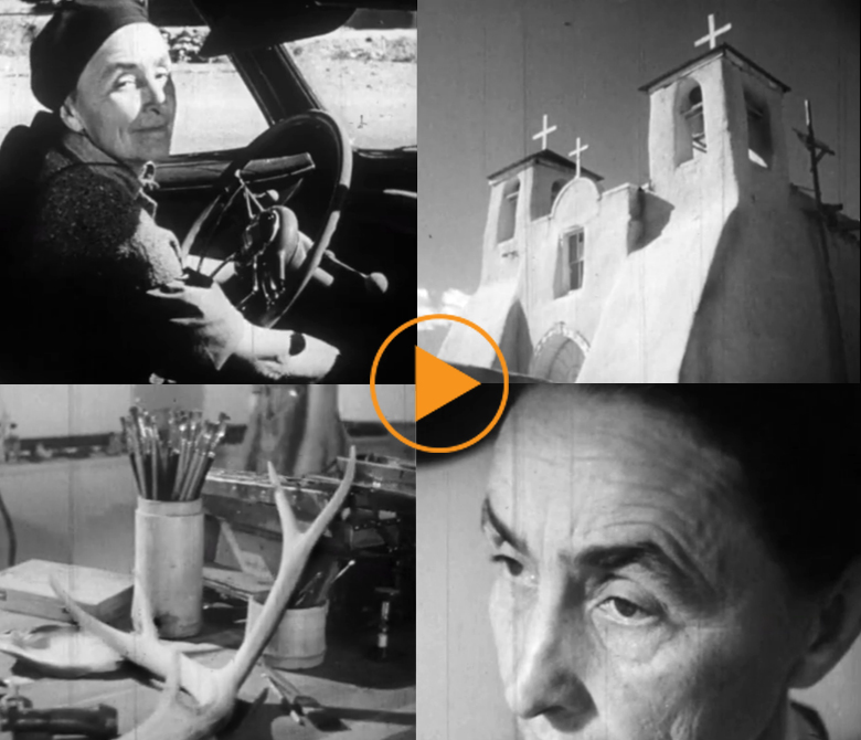 New Mexico c.1950. Georgia O'Keeffe at home and in her studio. / Film Images / Bridgeman Footage