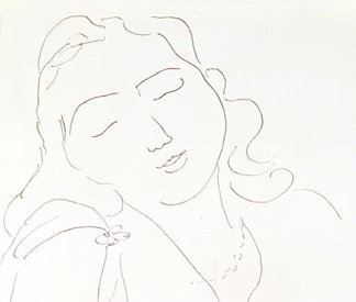PFA166742 The Dream, 1943 (pen and ink on paper) by Henri Matisse/ Photo: Bonhams, London, UK
