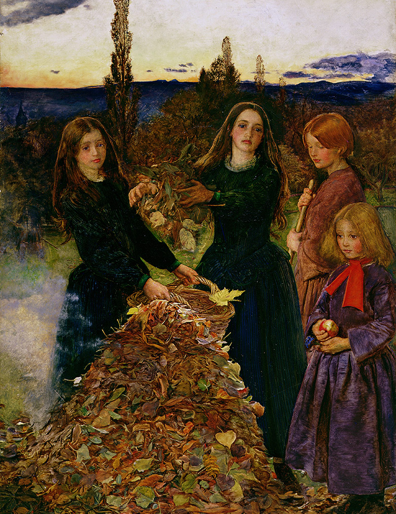 Autumn Leaves, 1856, Sir John Everett Millais (1829-96) / Manchester Art Gallery, UK / Bridgeman Images