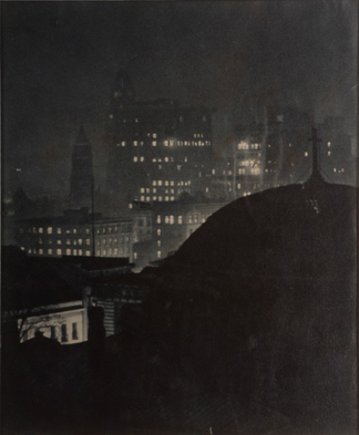 The City Beyond the Cross, 1926 (gelatin silver print) by A. Aubrey Bodine / Morris Museum of Art, Augusta, GA