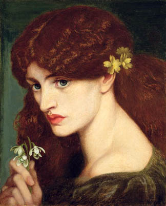 Snowdrops (featuring Jane Morris),1873 Dante Charles Gabriel Rossetti / Private Collection /The Bridgeman Art Library
