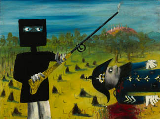 Death of Sergeant Kennedy at Stringybark Creek, 1946 by Sir Sidney Nolan (1917-92) National Gallery of Australia, Canberra