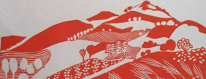 Land of Milk and Honey V, 1988 (linocut) Angela Newberry (detail) /Bridgeman Contemporary Artist