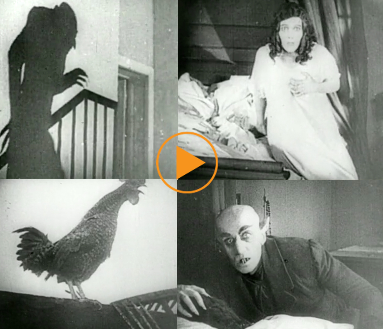 Scenes from Nosferatu including the iconic staircase shot of Nosferatu's shadow / Bridgeman Footage