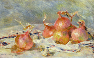 CLK339827 The Onions, c.1881 (oil on canvas) by Pierre Auguste Renoir (1841-1919)</BR>Sterling & Francine Clark Art Institute, Williamstown, USA