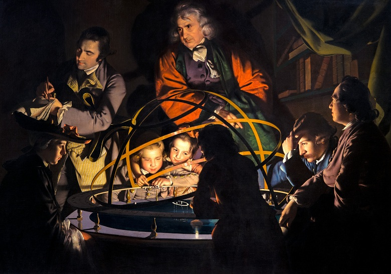 The Orrery, c.1766 (oil on canvas) by Joseph Wright of Derby (1734-97) / Derby Museum and Art Gallery, UK