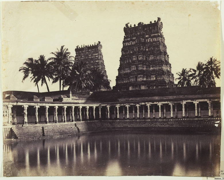Madura. The Great Pagoda, Mootoo Alaghur and East Gopurum from Tank, 1858, Linnaeus Tripe (1822-1902) / Art Gallery of Ontario, Toronto, Canada