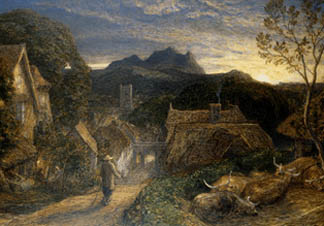 The Bellman by Samuel Palmer (1805-81) Chatsworth House, Derbyshire, UK/ © Devonshire Collection, Chatsworth