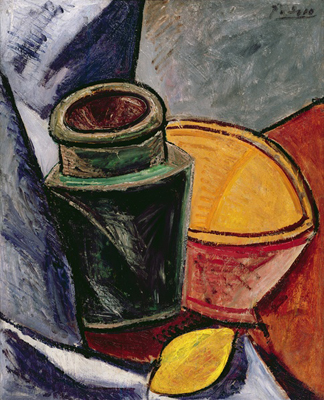 Pitcher, Bowl and Lemon, 1907 (oil on canvas) by Pablo Picasso (1881-1973)/ Lefevre Fine Art Ltd., London