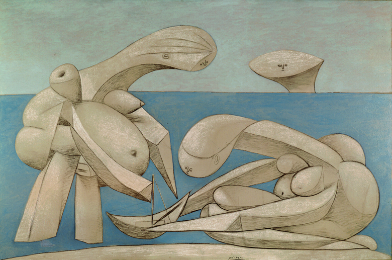 On the Beach (La Baignade) 1937 (oil, pastel & crayon on canvas), Pablo Picasso, Peggy Guggenheim Foundation, Venice, Italy / Bridgeman Images