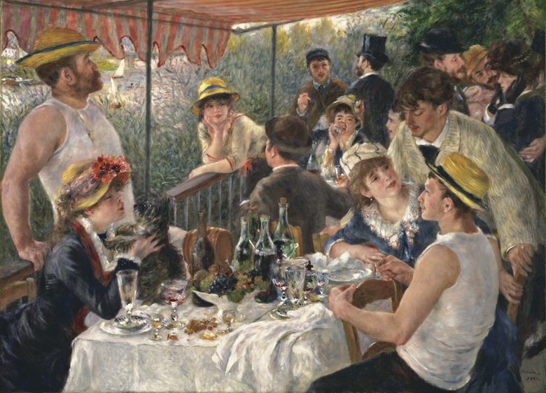 Luncheon of the Boating Party, 1880-81, Pierre Auguste Renoir, The Phillips Collection, Washington, D.C., USA / Bridgeman Images