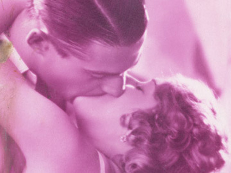 The Pink Kiss, c.1930 (colour litho), French School, (20th century) / Archives Charmet / Bridgeman Images