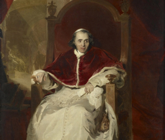 (detail) Pope Pius VII, 1819 by Sir Thomas Lawrence/ The Royal Collection © Her Majesty Queen Elizabeth II
