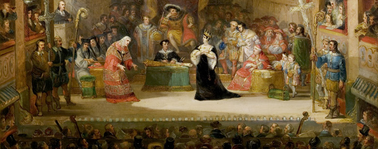 The Trial of Queen Katharine, 'Henry VIII', Act II, Scene 4, 1831 (detail) by Henry Andrews (1794-1868) / Royal Shakespeare Company Collection, Stratford-upon-Avon, Warwickshire