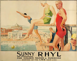 Poster advertising Sunny Rhyl by Edwin Scott Septimus (1879-c.1932) © Yale Center for British Art, New Haven, USA