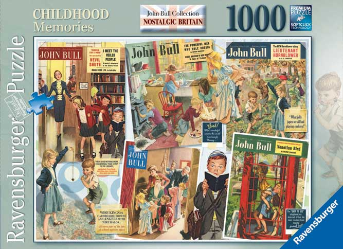 Ravensburger 'Nostalgic Britain' puzzle using front covers of 'John Bull' / English School © The Advertising Archives / Bridgeman