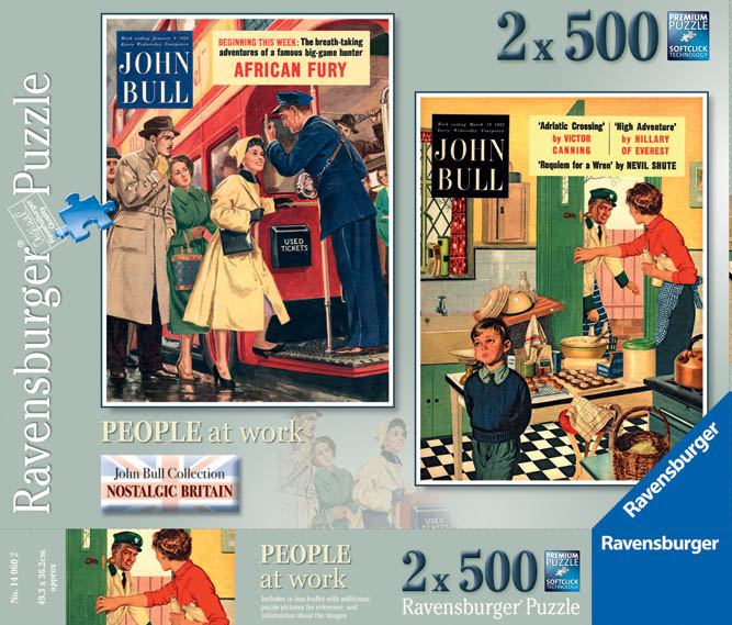 Ravensburger 2 x 500 puzzle using front covers of 'John Bull' / English School © The Advertising Archives / Bridgeman
