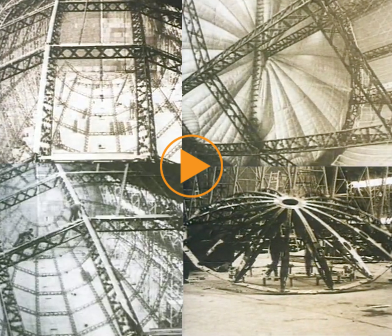 Construction of the R100 airship, 1927 / Buff Film & Video Library / Bridgeman Footage
