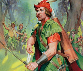 LAL262436 Robin Hood by James Edwin McConnell (1903-95) <br> © Look and Learn