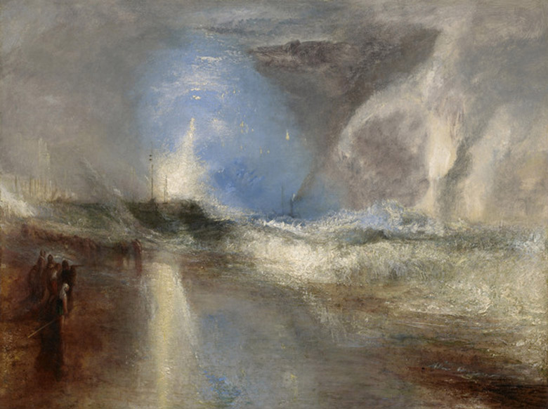 Rockets and Blue Lights (Close at Hand) to Warn Steamboats of Shoal Water, 1840 (oil on canvas), J.M.W. Turner (1775-1851) / Sterling and Francine Clark Art Institute