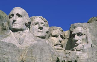 Mount Rushmore National Memorial (granite), Borglum, Gutzon (1867-1941) / Keystone, South Dakota, USA