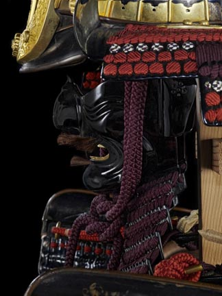 Detail of Do-maru armour presented to King James I by Tokugawa Hidetada, via Captain Saris of the East India Company, in 1613, c.1610