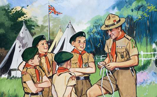 LAL301925 The Scouts by English School (20th century) Private Collection/ Look and Learn
