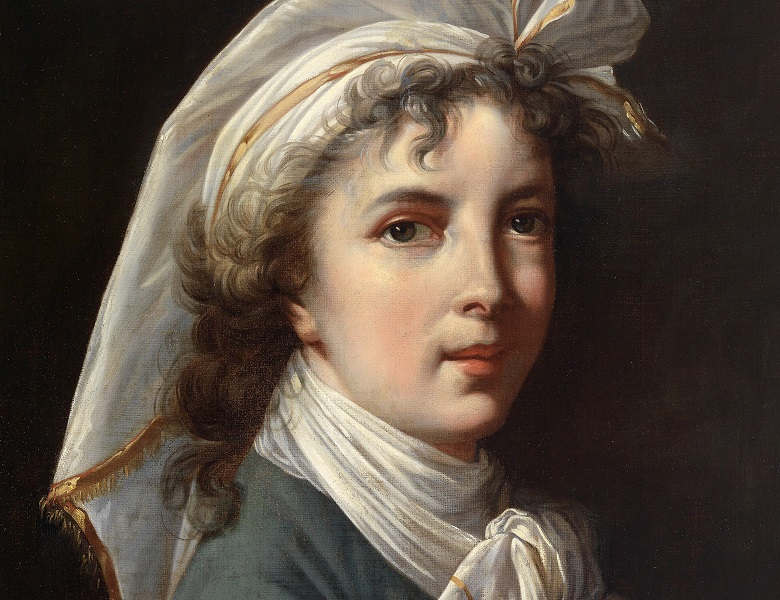 MAM 712820 Copy of Self Portrait of the Artist (oil on canvas), Elisabeth Louise Vigee-Lebrun (1755-1842) (after) / Mead Art Museum, Amherst College, USA