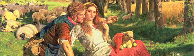 The Hireling Shepherd (detail), 1851 by William Holman Hunt © Manchester Art Gallery, UK