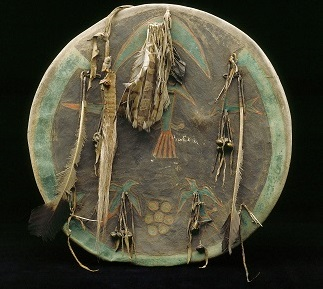 Shield, Cheyenne, c.1860 (mixed media), American School, (19th century) / Detroit Institute of Arts, USA