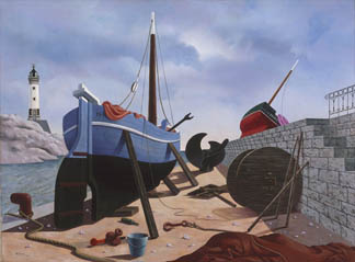 Careening, 1939 (oil on canvas) by Tristram Hillier (1905-83) Art Gallery of New South Wales, Sydney