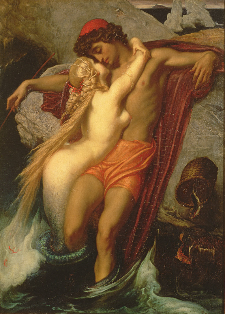 The Fisherman and the Syren: From a Ballad by Goethe, 1857 by Frederic Leighton (1830-96) / © Bristol Museum and Art Gallery, UK