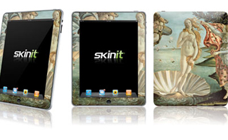 Birth of Venus by Sandro Botticelli on the Apple iPad/ courtesy of Skinit, Inc.